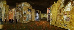The Klimt and Vienna exhibit at Carrières de Lumières in Les Baux