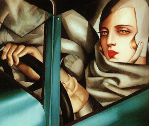 : Gerda's paintings remind me of those by Tamara de Lempicka, another woman artist who found fame in Paris in the 20s