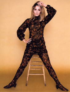 """Sharon Tate in a costume designed by Travila for """"Valley of the Dolls."""""""