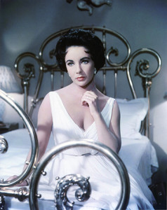 """Elizabeth Taylor in """"Cat on a Hot Tin Roof,"""" design by Helen Rose."""