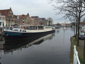 Haarlem and the Barge Iris